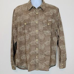 Lucky Brand Button up Long Sleeve Shirt Sz L